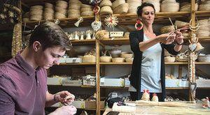 Pletení ze slámy: Nejen tradiční vánoční ozdoby