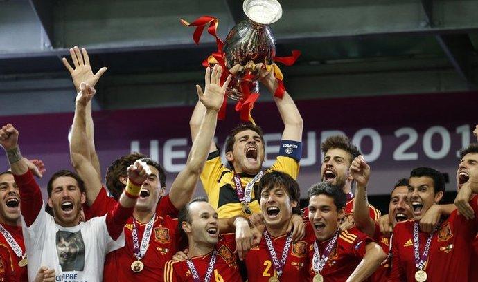 Slavící španělští fotbalisté