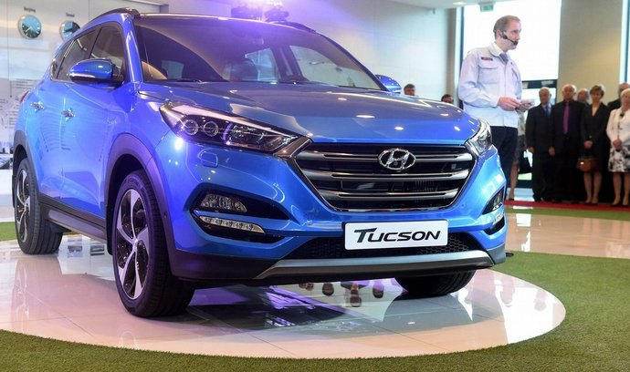 Slavnostní ceremoniál k zahájení výroby nového vozu Hyundai Tucson, 23. června v Nošovicích.