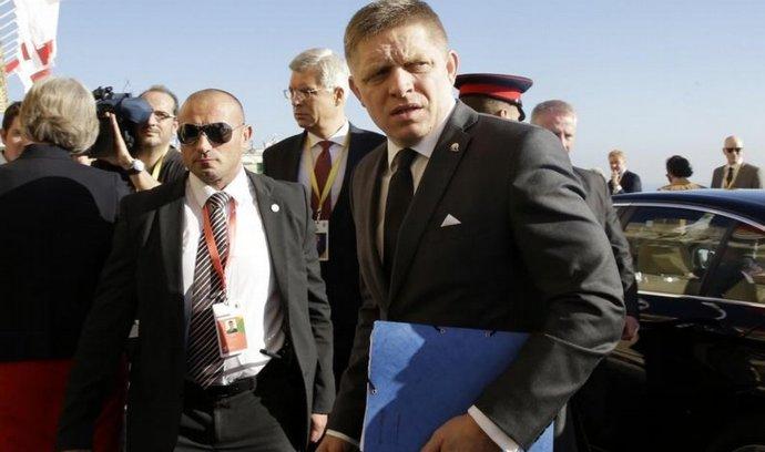 Slovenský premiér Robert Fico na summitu EU ve Valettě