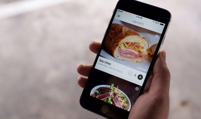 Služba Uberu na rozvoz jídel Uber eats
