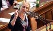 Jana Černochová při projednávání zákona o držení zbraní