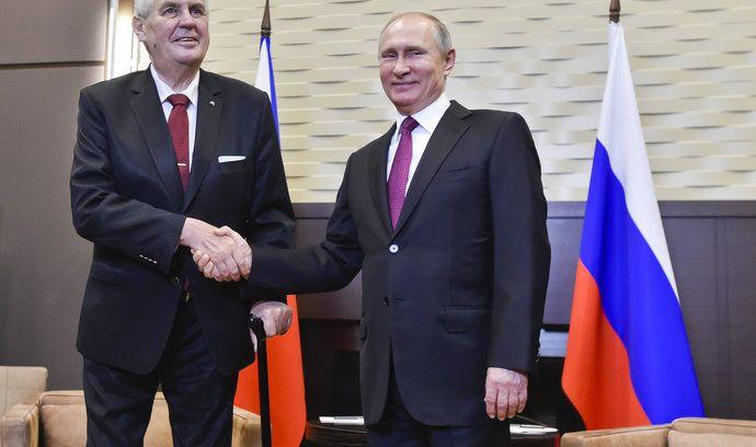 Miloš Zeman během setkání s Vladimirem Putinem
