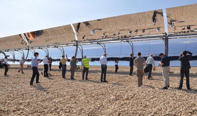 Solární elektrárna v Egyptě