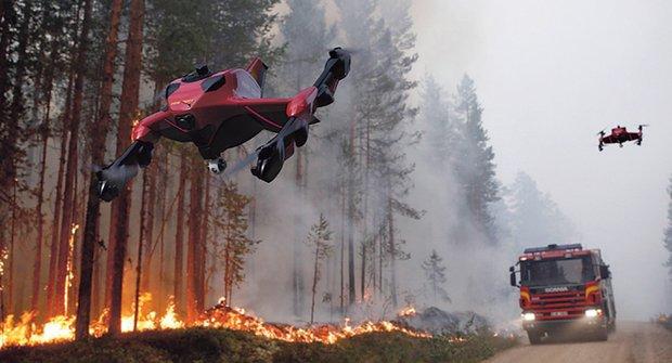 Zásahová jednotka budoucnosti: Dron rychlý jako Ferrari