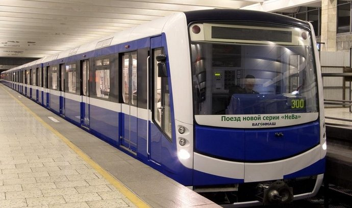 Souprava metra pro Petrohrad