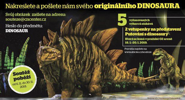Soutěž o volné vstupenky na představení Putování s dinosaury