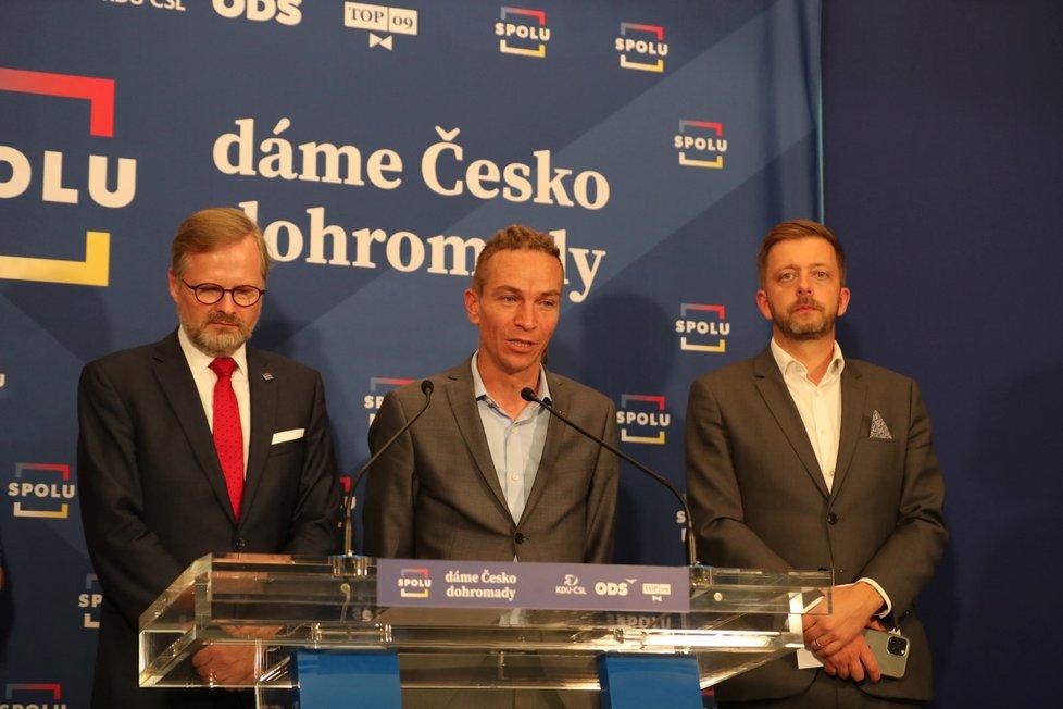 Volby do Sněmovny 2021: Jednání vítězné SPOLU a PirSTAN (9.10.2021)