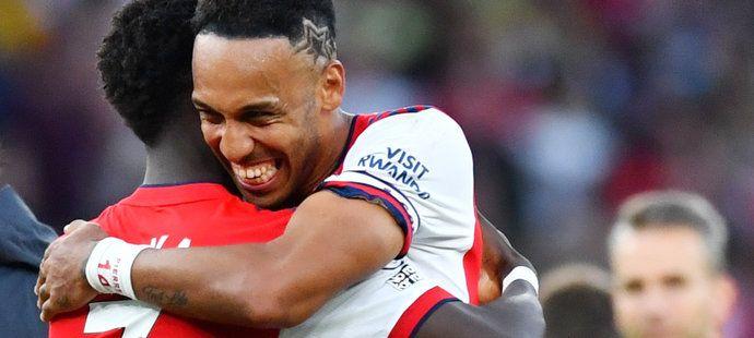 Velká radost Arsenalu z výhry nad rivalem