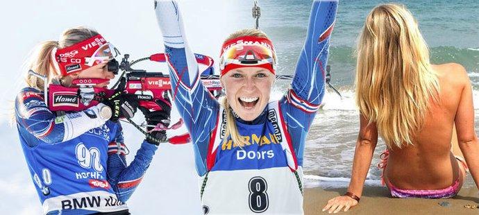 Britští vědci tvrdí, že česká biatlonistka Eva Puskarčíková je nejhezčí na světě!