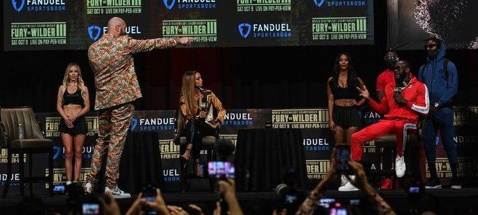 Emotivní tisková konference před soubojem Tyson Fury vs. Deontay Wilder
