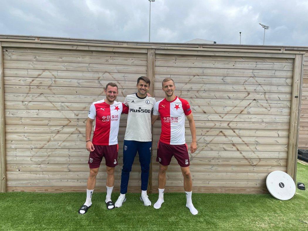 Tomáš Souček a Vladimír Coufal podpořili Slavii v boji s Legií Varšava, za kterou zase stojí gólman West Hamu Lukasz Fabianski