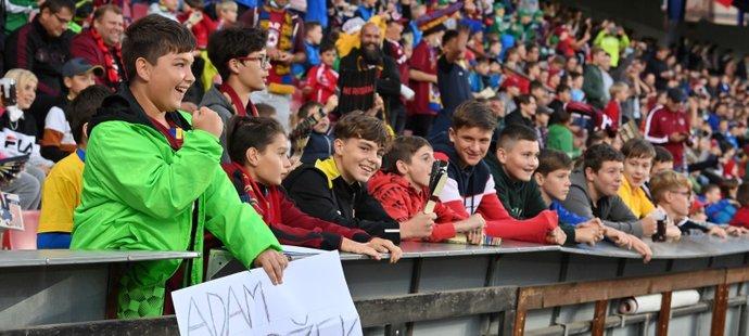 Dětští fanoušci na utkání Evropské ligy Sparta - Rangers