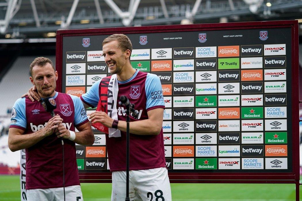 Vladimír Coufal a Tomáš Souček vybojovali s West Hamem místo v Evropské lize