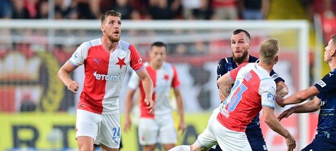 Ladislav Takács v dresu Slavie v utkání proti Slovácku
