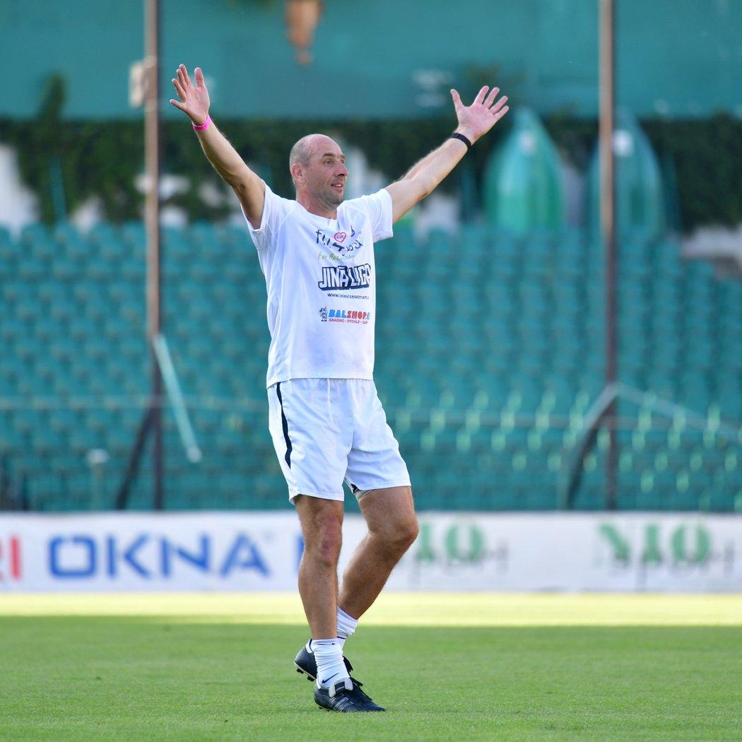 Legendární fotbalový střelec Jan Koller na Memorialu Lukáše Přibyla