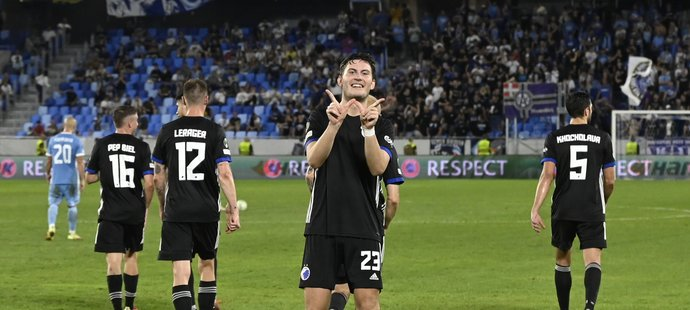 Jonas Wind dal Slovanu dva góly