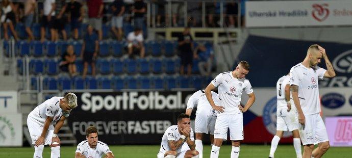Zklamaní fotbalisté Slovácka se v Konferenční lize dál nepředstaví