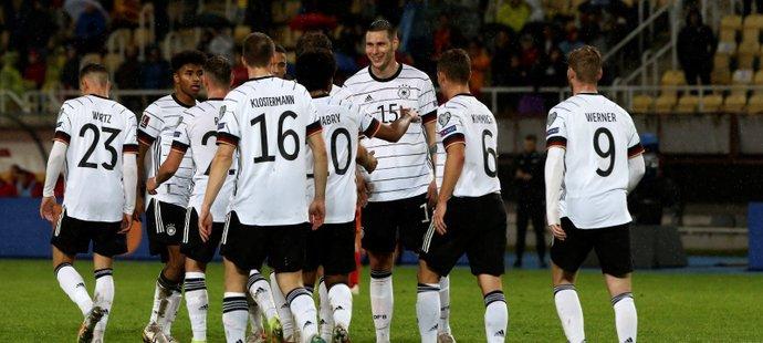 Fotbalisté Německa porazili Severní Makedonii díky vydařené druhé půli