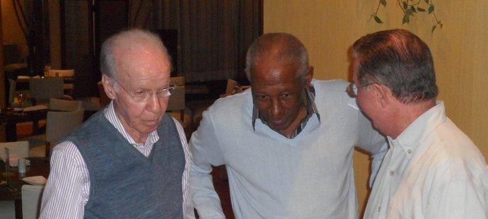 Dva dvojnásobní mistři světa 1958 a 1962 - Djalma Santos a Mário Zagallo