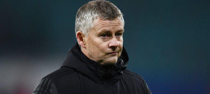 Zklamaný trenér United Ole Gunnar Solskjaer