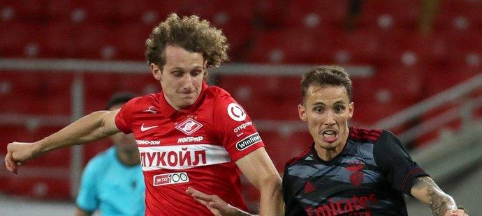 Český záložník Alex Král naskočil proti Benfice v 77. minutě