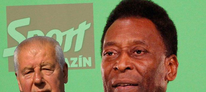 Nejvýznačnější gratulant Josefa Masopusta - legendární Pelé