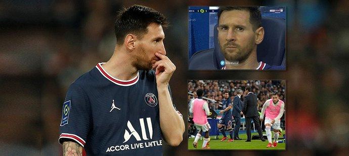 Lionel Messi v utkání PSG proti Lyonu šel předčasně ze hřiště, trenérovi cestou z trávníku nepodal ruku