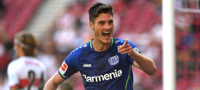 Patrik Schick hraje v top formě, Leverkusenu vystřelil vítězství
