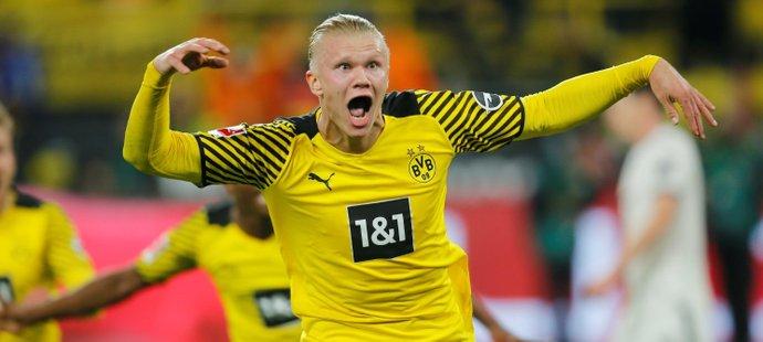 Erling Haaland vrátil Dortmundu ztracené vedení v nastaveném čase