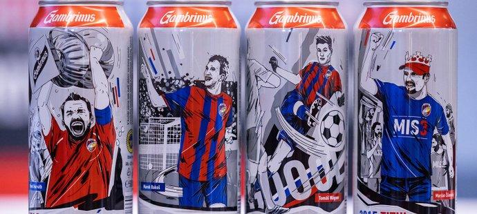 Speciální edice plechovek Gambrinus s největšími momenty plzeňské fotbalové historie