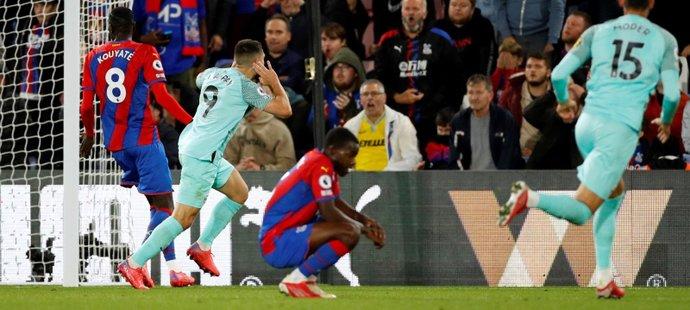 Brighton nevyužil šanci vést Premier League, s Crystal Palace remizoval