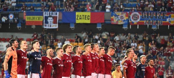 Fotbalisté Sparty po zápase s Olomoucí