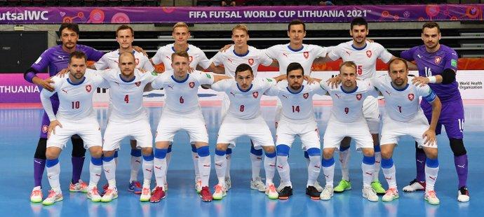 Česká futsalová reprezentace před soubojem s Panamou na MS