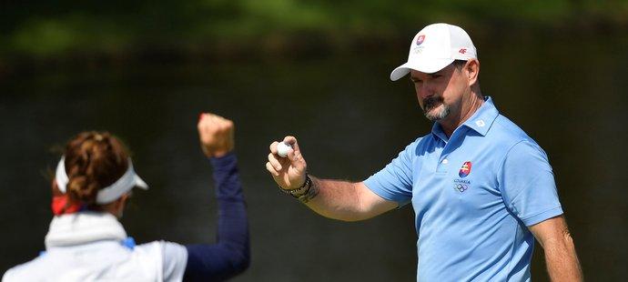 Golfista Rory Sabbatini vybojoval stříbro pro Slovensko