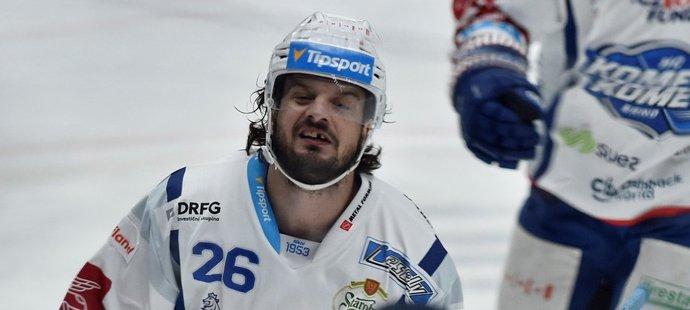 Kapitán Komety Martin Zaťovič měl po zápase s Pardubicemi náladu pod psa