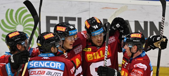 Gólová radost hokejistů Sparty