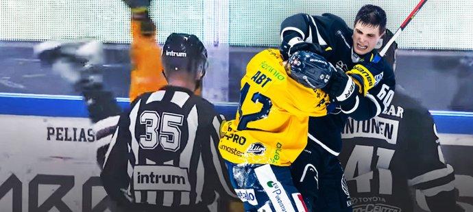 Slovenský talent Juraj Slafkovský si získává čím dál větší pozornost ve Finsku. Ve svém teprve třetím utkání za áčko Turku skolil v bitce mnohem zkušenějšího soupeře