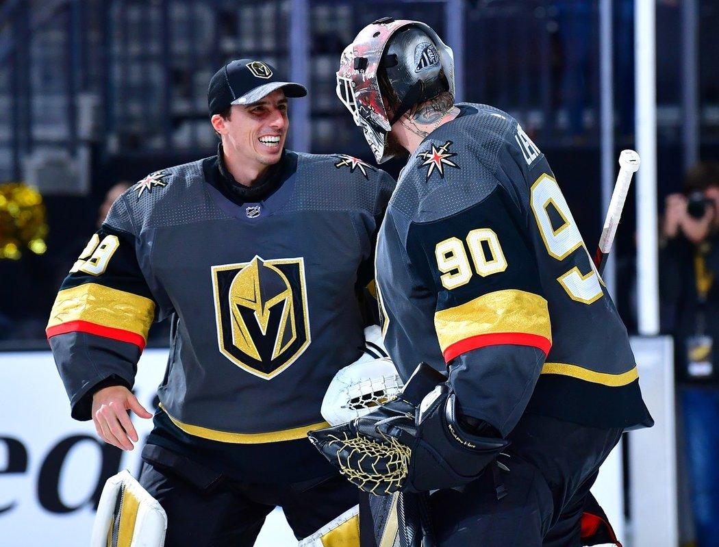 Vegas Golden Knights budou pokračovat s brankářskou dvojicí Robin Lehner a Marc-André Fleury.