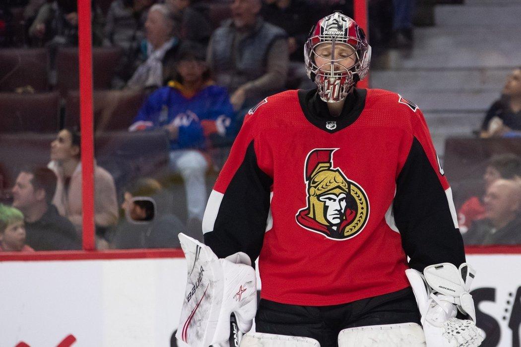 Ottawa nenabídne gólmanu Craigu Andersonovi nový kontrakt. Americká ikona lapala za Senators deset let.