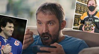 Ovečkin s vločkami baví NHL. V jaké reklamě se objevil Pasta či Jágr?