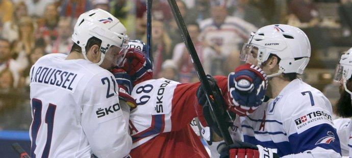 Roussel si vyskakoval na české hokejisty