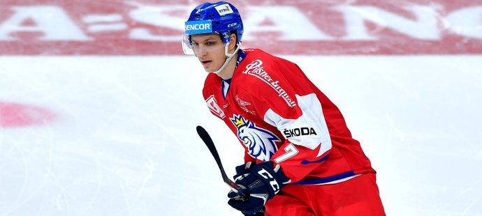 Jakub Galvas v utkání české reprezentace proti Finsku