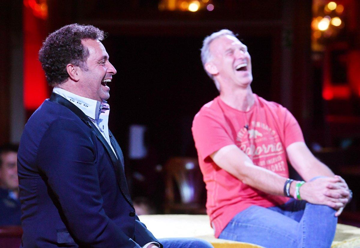 Hosty další Karlos show byli Martin Dejdar (vlevo) a Dominik Hašek