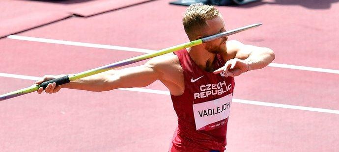 Český oštěpař Jakub Vadlejch během olympijské kvalifikace