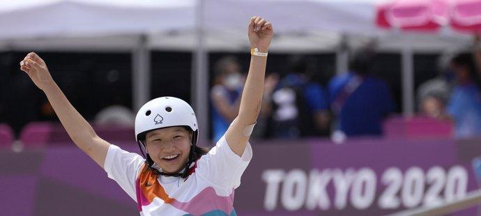 Momidži Nišijová je ve 13 letech olympijskou šampionkou