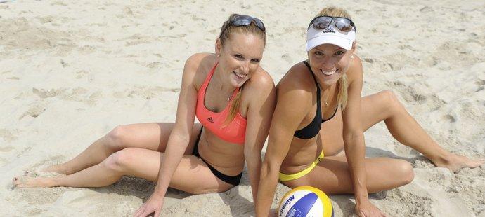 Kristýna Kolocová (vlevo) a Markéta Sluková při tréninku po největším úspěchu v kariéře