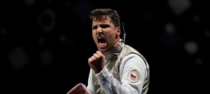 Alexander Choupenitch se raduje z postupu do osmifinále olympijského turnaje