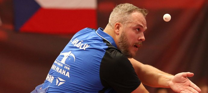 Stolní tenista Jiří Vráblík vybojoval v 38 letech svůj první titul mistra republiky ve dvouhře