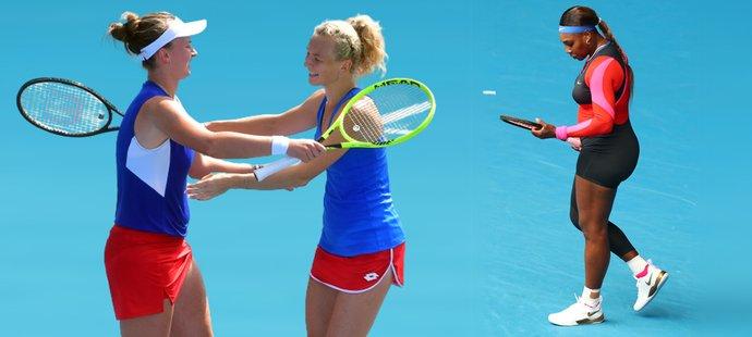 Zlaté medailistky z olympiády v Tokiu ve čtyřhře Barbora Krejčíková a Kateřina Siniaková nastoupí na turnaji v Praze, mluví se i o účasti legendární Sereny Williamsové